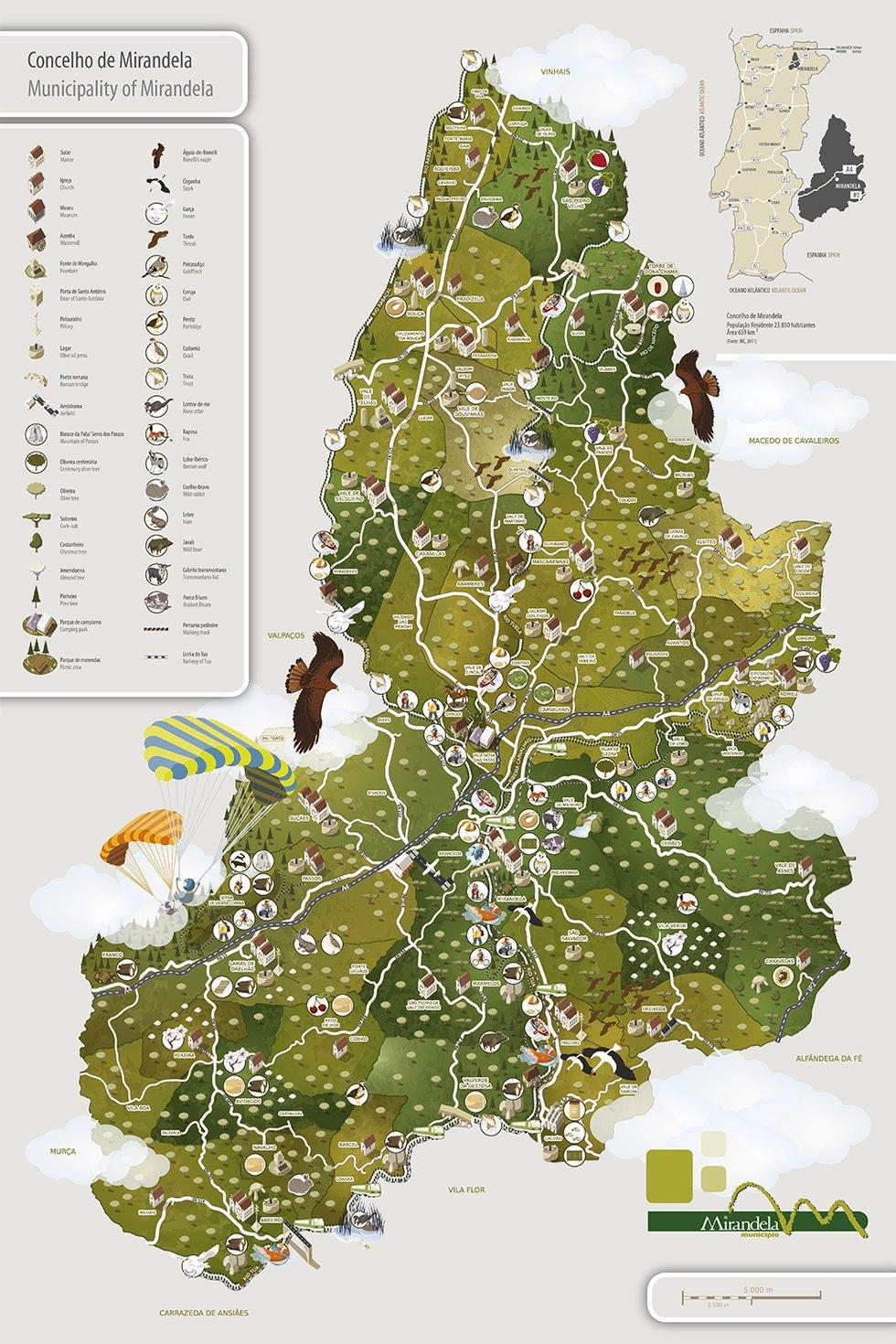 Mirandela Turismo Mapa Do Concelho